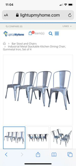 Gunmetal dining table chairs chair bar restaurants for Sale in Miami, FL