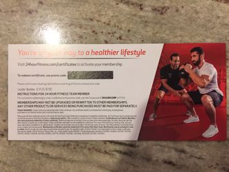 24 hours all club super-sport membership certificate for Sale in Issaquah,  WA