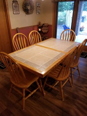 Kitchen table - solid oak for Sale in Sarver, PA
