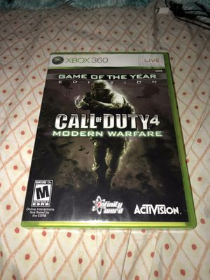Xbox 360 game ~ Call of duty four modern warfare (game of the year edition) for Sale in Renton, WA