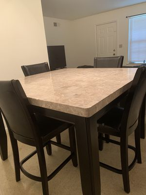 Marble/Counter Height dining table w/ 4chairs for Sale in SOUTH BASE, GA