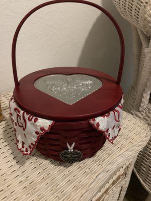 Valentine's Day Longaberger basket for Sale in Fort Myers, FL