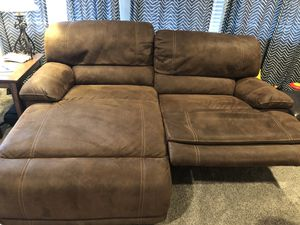 Brown couch with chase and recliner for Sale in Pittsburgh, PA