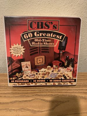 CBS 60 Greatest Old Time Radio Shows Audio Cassettes Set for Sale in Fullerton, CA