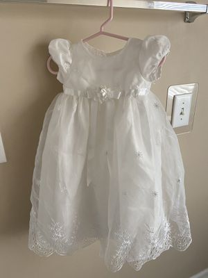 Picture Perfect Eyelet Organza Christening Dress & Bonnet Hat Set - Baby Girl for Sale in Raleigh, NC