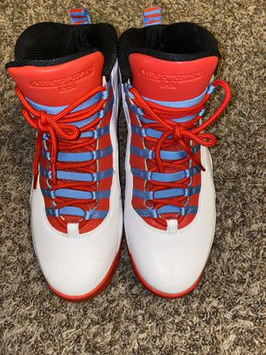 Nike Air Jordan 10 Retro X Chicago Flag City Pack Crimson Sz 13 for Sale in Miramar, FL