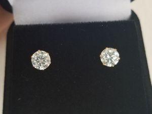 New 1.70 ct moissanite diamonds stud earrings for Sale in Bloomfield Hills, MI