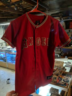 Mike Trout Los Angeles Angels Majestic Major League Baseball Jersey Kids Size Large for Sale in Bakersfield,  CA