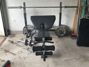 Weight Bench and Bar for Sale in Hutto, TX