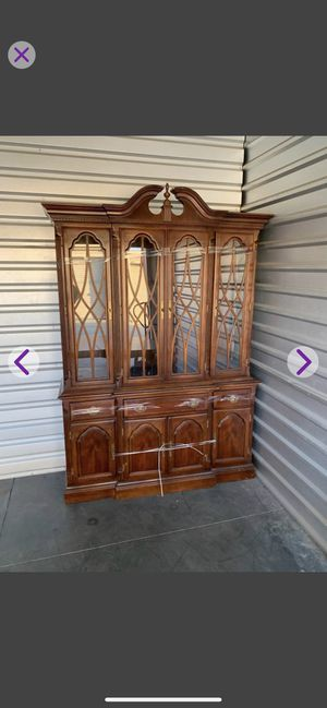 China hutch Gorgeous Dark Cherrywood for Sale in Highland, CA