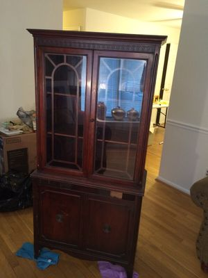 Antique bookcase it china closet for sale now. for Sale in UPR MARLBORO, MD