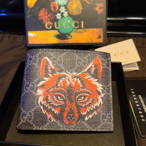 Gucci Red Wolf Print Supreme GG Wallet for Sale in La Mesa, CA