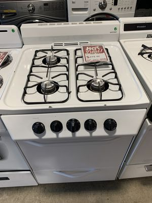 On Sale HotPoint Gas Stove Oven 4 Burner White #1309 for Sale in Huntington, NY
