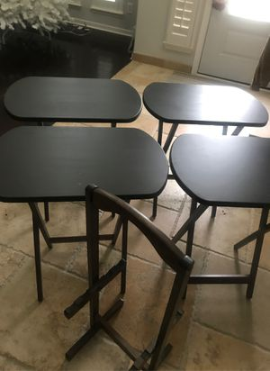 Set of 4 folding tables with stand for Sale in Houston, TX