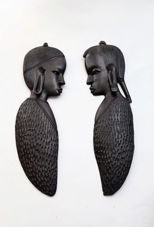 Ebony Wood Maasai Face Carvings for Sale in Washington, DC