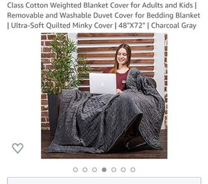 Weighted blanket & blanket cover for Sale in Washington, DC