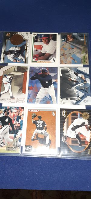 Frank Thomas baseball 9 card page $2 takes all for Sale in Garland, TX
