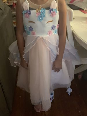 Unicorn dress size 7-8 for Sale in Meriden, CT