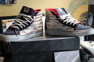 Men's Vans Sk8-Hi American Flag Sz. 10 for Sale in Silver Spring, MD