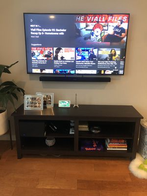 58 inch tv stand espresso brown color for Sale in San Francisco, CA