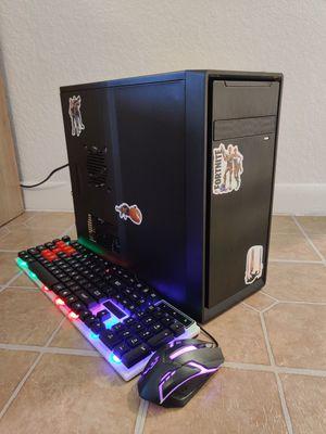 BUDGET GAMING DESKTOP COMPUTER INTEL CORE I3 QUADCORE 3.50GHZ, 8GB RAM, 128GB SSD+500GB, AMD RADEON GRAPHICS, USB 3.0 for Sale in Miami, FL