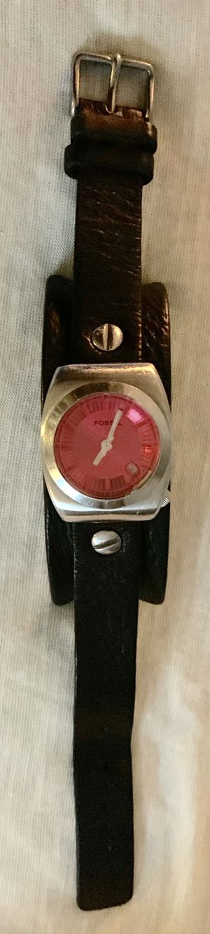 "Women's ""FOSSIL"" Leather Watch~working battery for Sale in Sandy, UT"