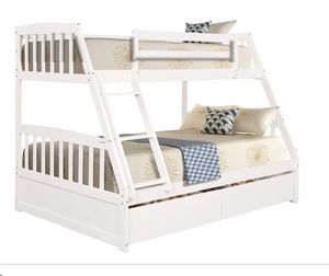 NEW BUNK BED FULL TWIN WITH TRUNDLE BED AND NEW MATTRESS INCLUDED NEW for Sale in Miami, FL