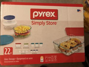 Brand New Pyrex Simple Store 22 pcs Set for Sale in Carlsbad, CA