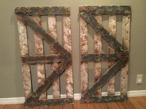 Rustic Wooden doors - set of two for Sale in San Antonio, TX