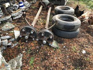 Pair of mobile home axles springs and tires for Sale in Tulalip Bay, WA