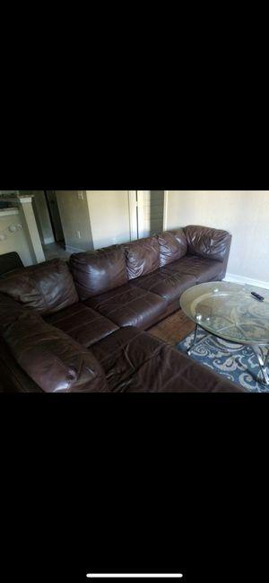 Dark Brown Sectional Couch for Sale in Chicago, IL