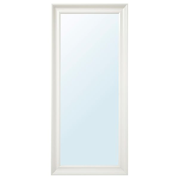 White wall ikea mirror