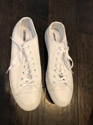 Size 13 men's white converse for Sale in Nashville, TN