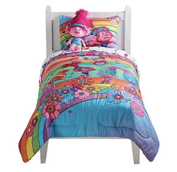 Bundle of Trolls Comforter and Sheet Set