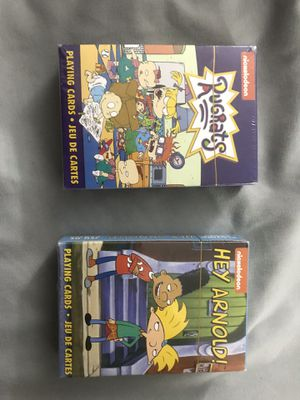 Nickelodeon Rugrats & Hey Arnold Collectable Playing Cards for Sale in Escondido, CA