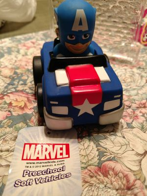 MARVEL POLYFECT TOYS MARVEL Captain America & Rocket Raccoon Soft Vehicles Kids Racer for Sale in Rancho Cucamonga, CA