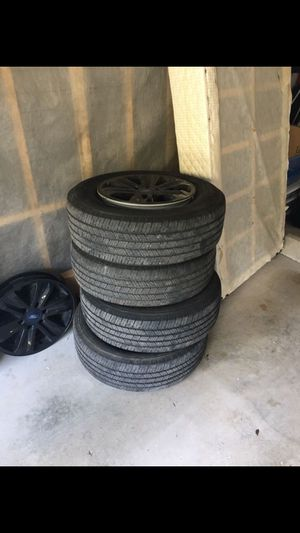 Four new F-150 Michelin Tires and black Rims for Sale in West Palm Beach, FL
