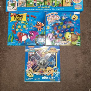 2 go fishing games and 1 Paw Patrol Trouble game for Sale in Glen Burnie, MD