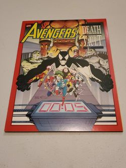 Avengers Death Trap The Vault Marvel Comics 1991 Graphic Novel Near Mint+ Condition, Raw Unpressed Uncleaned And Ungraded Venom Story Cover Appearance for Sale in Fresno,  CA