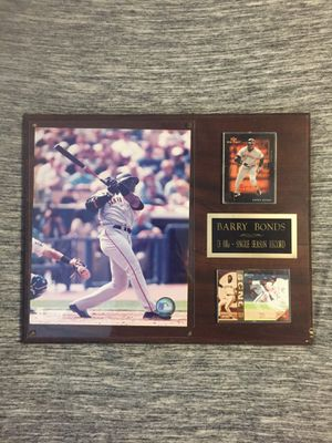 Barry Bonds single season HR record plaque for Sale in Tampa, FL