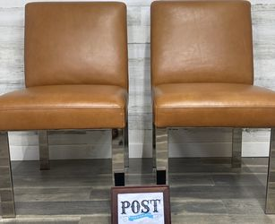 Set Of 2 Williams Sonoma Leather Chairs for Sale in Canby,  OR