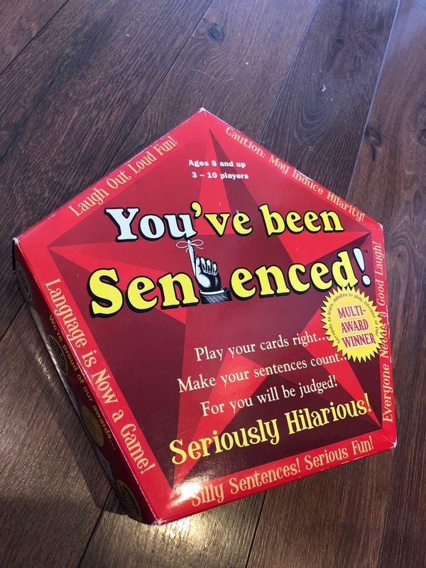 New You've Been Sentenced party game - 3 to 10 players