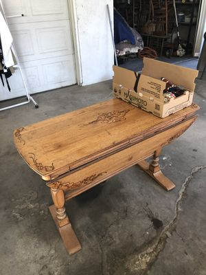 Antique table. Folds up or down for Sale in Fresno, CA