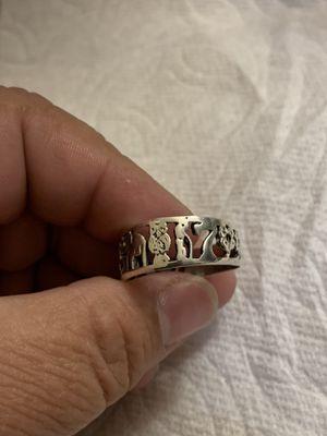 Silver .925 Lucky Charm Symbols /Ring Anillo de Suerte for Sale in Des Moines, WA