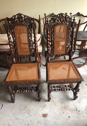 European Antique chairs set of 2 for Sale in Burlington, WA