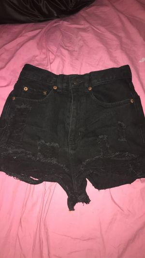 Distressed black jean shorts for Sale in Fresno, CA