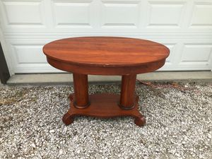 Antique Double Pedestal Library Table with Drawer for Sale in Brazil, IN