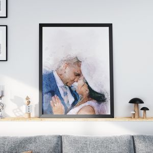 Watercolor Wedding Art Portrait for Sale in Chicago, IL