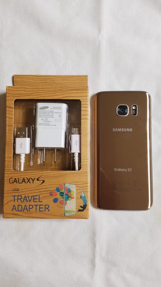 SAMSUNG GALAXY S7 GOLD UNLOCKED FOR ANY CARRIER OR OVERSEAS (great condition)