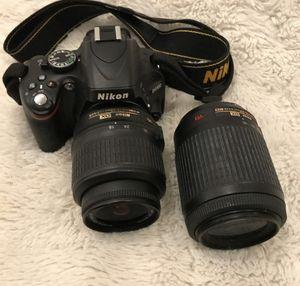 Nikon SLR D-5100 Camera and Lens for Sale in Corona, CA